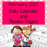 Daily Calendar and Math Review February 2020