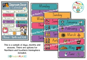 Daily Calendar and Schedule Cards - QLD Font