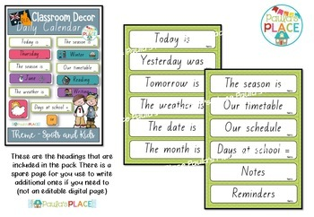 Daily Calendar and Schedule Cards QLD Font