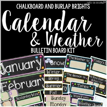 Daily Calendar and Weather Bulletin Board Kit