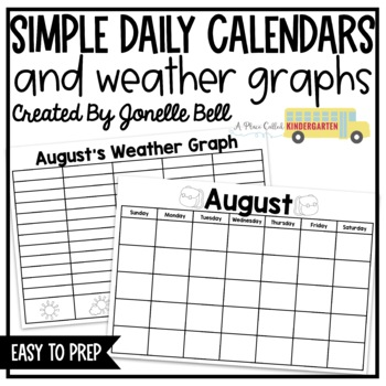 Daily Calendar and Weather Graph