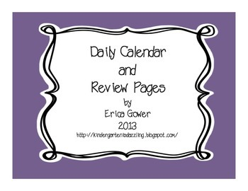 Daily Calendar pages
