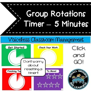 Daily Centers  Classroom Management Timer 5 Minutes +1 Minute Transition