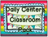 Daily Centers Classroom Pack {7 Classroom Centers}