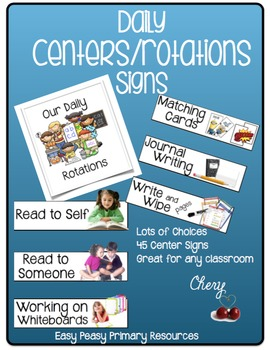 Daily Centers/Rotations Signs