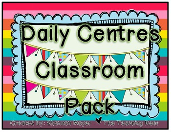 Daily Centres Classroom Pack {7 Classroom Centres} (CAN, UK, AUS, NZ version)