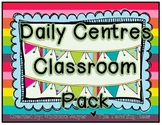 Daily Centres Classroom Pack {7 Classroom Centres} (CAN, U