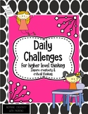 Daily Challenges for Higher-Level Thinking Set 2
