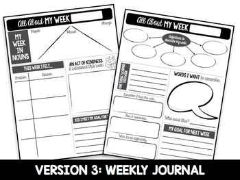 Daily Character Journal for Upper Elementary