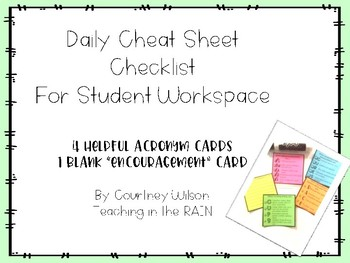 Daily Cheat Sheet Checklist