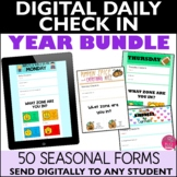 Daily Check In Distance Learning BUNDLE Google Form