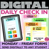 Daily Check In Distance Learning Google Form