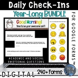 Daily Check In Google Forms™ Year Long Bundle