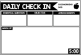 Daily Check In Powerpoint Slides with Timers