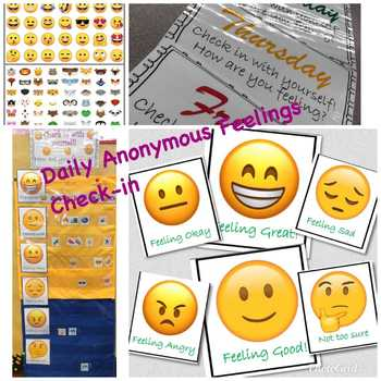 Daily Check-in Feelings Chart! (SOCIAL EMOTIONAL LEARNING)