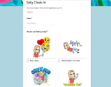 Daily Check-in Google Forms (with Bitmoji)