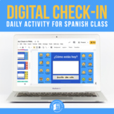 Daily Check-in for Spanish Class (Google Slides™)