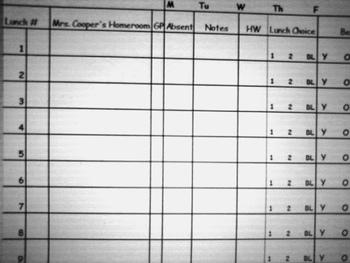 Daily Checklist (Attendance, Homework, Behavior, etc.)