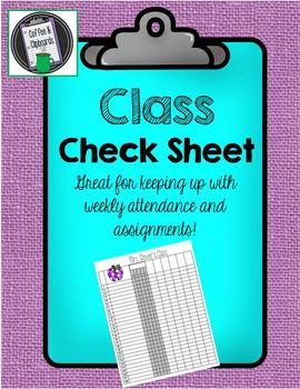 Daily Checksheet
