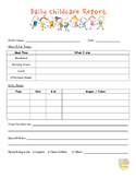 Daily Childcare Report
