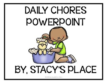 Daily Chores Powerpoint (English/ESL)