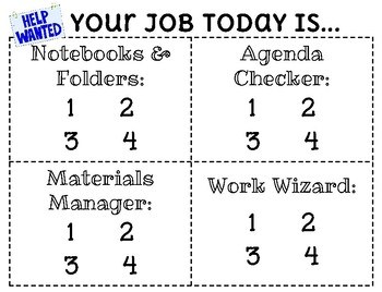 Daily Class Jobs Poster