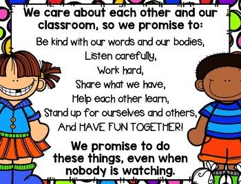 Daily Class Pledge - Classroom Kids Rainbow Theme