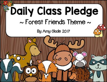 Daily Class Pledge - Forest Friends Theme