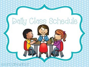 Daily Class Schedule