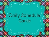 Daily Class Schedule Cards