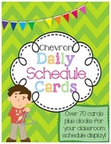 Daily Class Schedule Display Cards Set in Chevron