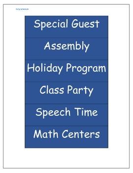 Daily Class Schedule Printouts