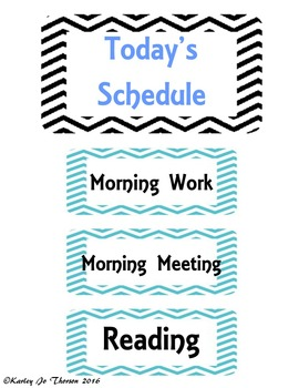 Editable Daily Class Schedule Signs