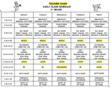 Daily Class Schedule Template (EDITABLE)