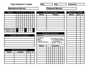 Daily Class Tracker