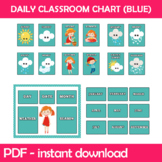 Daily Classroom Chart (Blue Edition) Instant Download PDF;