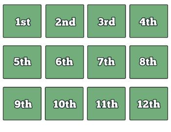Daily Classroom Chart (Green Edition) Instant Download PDF; Pre-k, Kindergarten