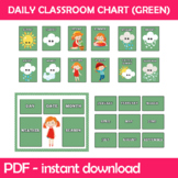 Daily Classroom Chart (Green Edition) Instant Download PDF