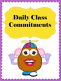 Daily Classroom Commitments