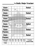 Daily Classroom Dojo Points Tracker