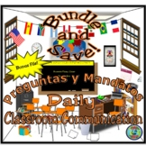 Daily Classroom Interaction Bundle; Preguntas, Mandatos y Otras Expresiones