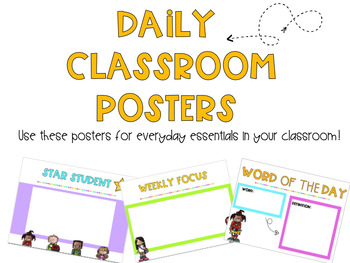 Daily Classroom Posters