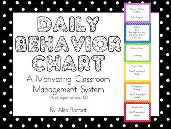 Daily Classroom Rewards and Consequence System (Behavior ...