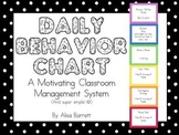Daily Classroom Rewards and Consequence System (Behavior Chart)