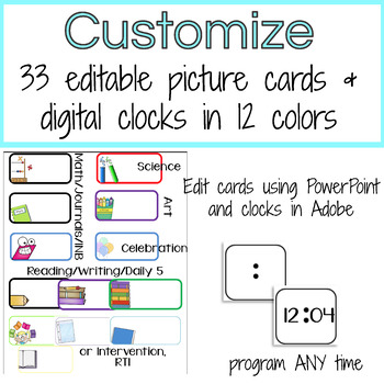 Daily Schedule Cards Editable