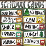 Daily Classroom Schedule Agenda Cards Owl Forest Theme Editable