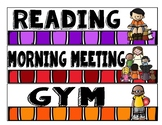 Daily Classroom Schedule Cards