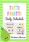 Daily Classroom Schedule Cards - Editable Tutti Fruitti Theme