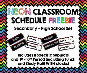 Classroom Schedule (Upper Grades)