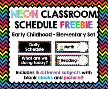 Classroom Schedule (Elementary)